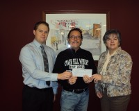 "CRC received contribution from Starr Hill Winery, ""Clearfield"" Wine"